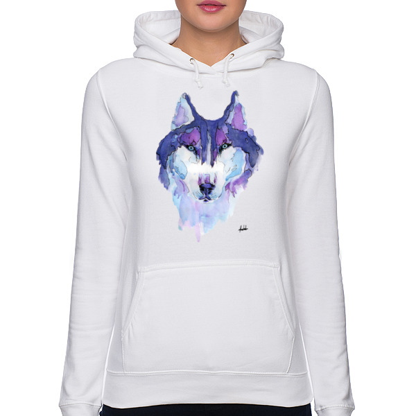 Husky Syberyjski Purple Hooded